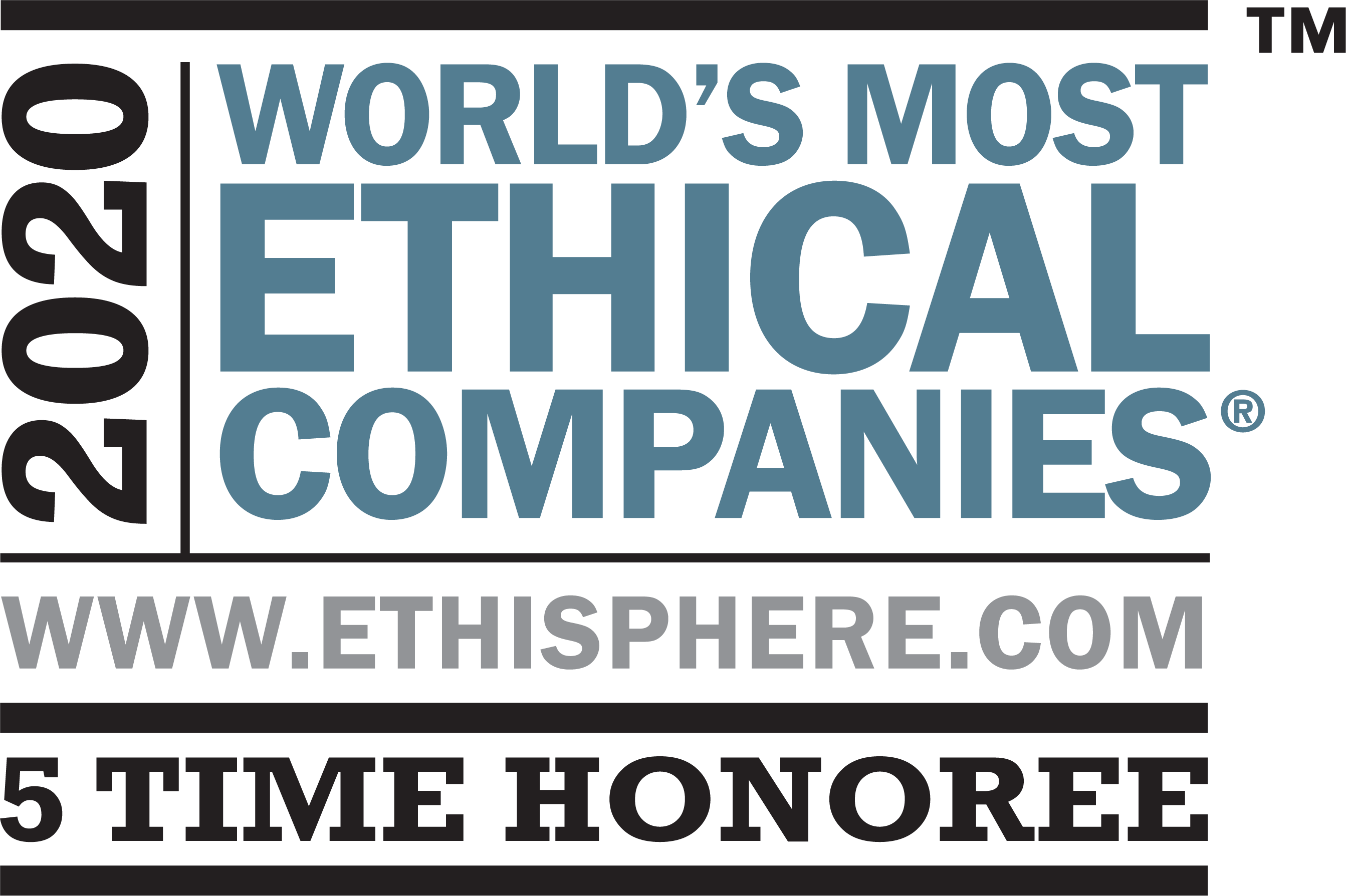 2020 World's Most Ethical Companies 5 Time Honoree