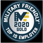 Circle Military Friendly Top 10 Employer 2020 Gold Award